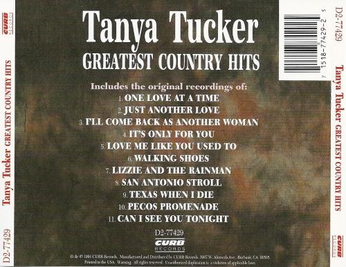 Tanya Tucker Greatest Country Hits 1991 Full Album