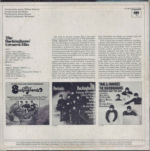 The Buckinghams - I'll Go Crazy / Don't Want To Cry