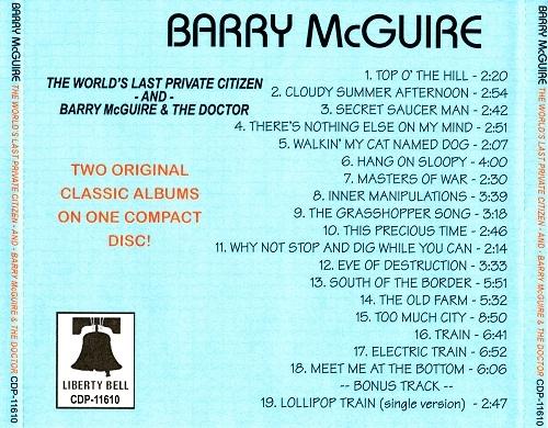 Barry Mcguire The World S Last Privat Citizen Barry