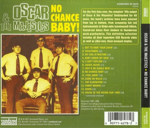 Oscar And The Majestics - No Chance Baby (Reissue) (1963-68/2011)