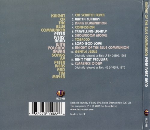 Peter Ivers' Band - Knight Of The Blue Communion (Reissue) (1969/2007)