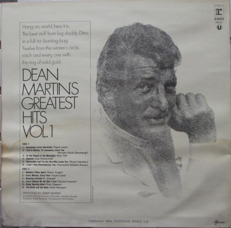 Dean Martin Dean Martin S Greatest Hits Volume 1 1971