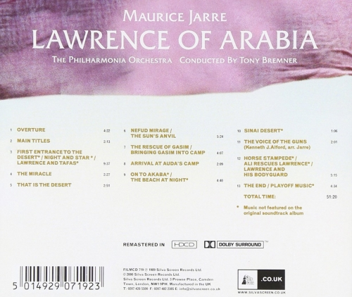 Maurice Jarre - Lawrence Of Arabia (Remastered) (1962/2000)