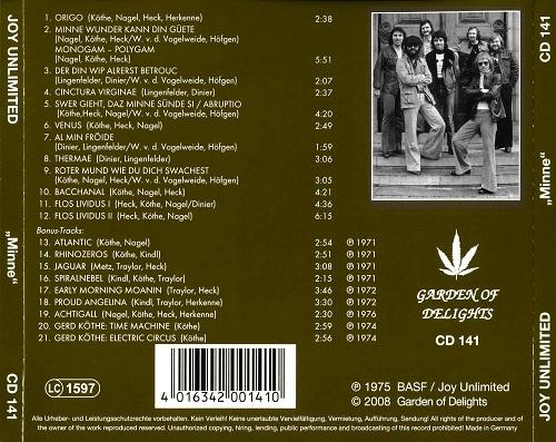 Joy Unlimited - Minne (Reissue) (1975/2008)