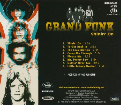 Grand Funk Shinin On 1974 2017 Israbox