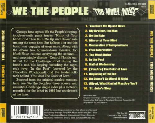 We The People - Too Much Noise [1966] (2008) CD Rip