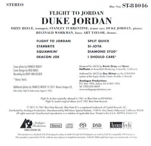 Duke Jordan - Flight To Jordan (1961) [2011 SACD]