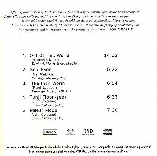 The John Coltrane Quartet - Coltrane (1962) [2010 SACD]