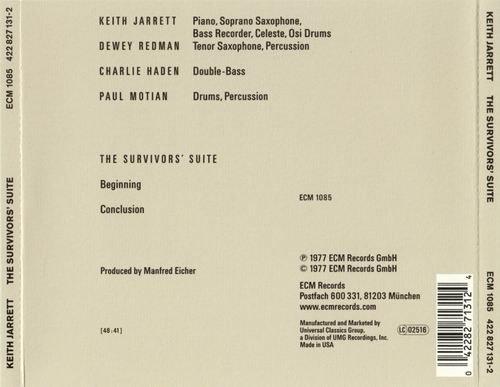 Keith Jarrett The Survivors Suite 1977 Cd Rip