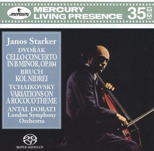Antal Doráti, János Starker & London Symphony Orchestra - Dvorák: Cello Concerto; Bruch: Kol Nidrei; Tchaikovsky: Variations on a Rococo Theme (1990) {SACD}