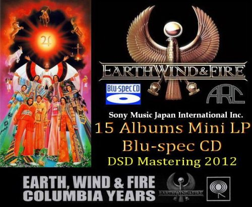 Earth, Wind & Fire - 15 Albums Japan Mini LP Blu-spec CD ● DSD Mastering (2012)