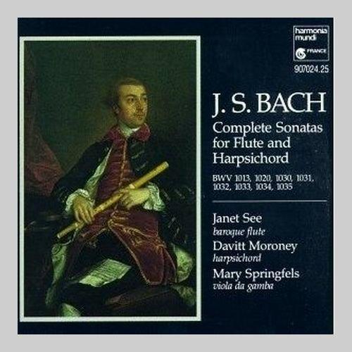 Janet See, Davitt Moroney, Mary Springfels - J.S. Bach - Complete Sonatas for Flute & Harpsichord (2CD) (1991)