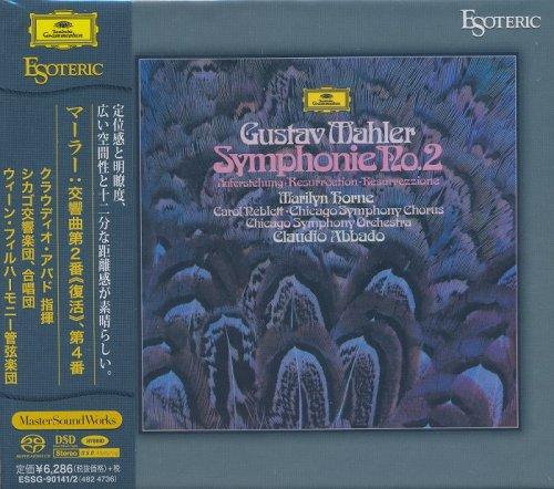 Claudio Abbado, Wiener Philharmoniker, Chicago Symphony Orchestra & Chorus - Gustav Mahler- Symphonies Nos. 2 & 4 [2 SACD Japan 2016] HDTracks