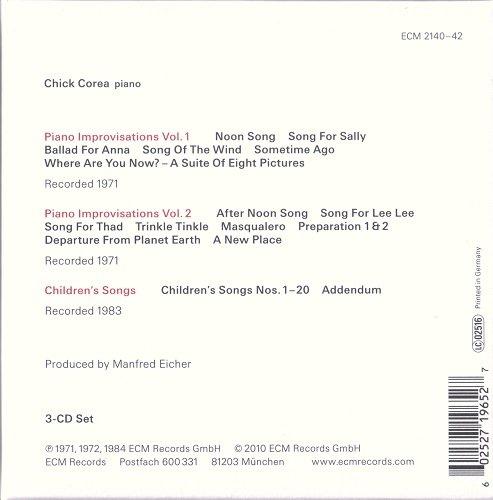 Chick Corea - Solo Piano: Improvisations & Children's Songs (2010) CD rip