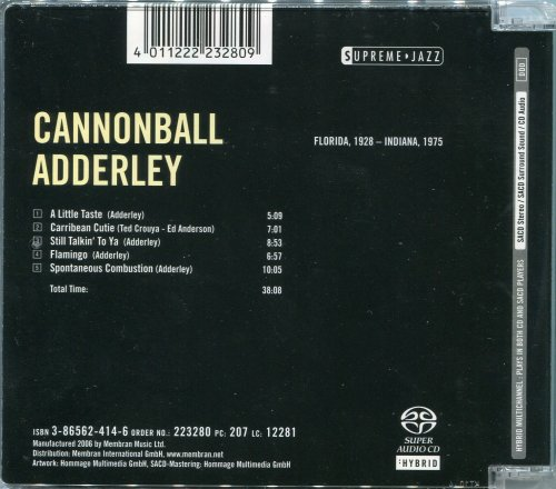 Cannonball Adderley - Supreme Jazz (2006) [HDtracks]