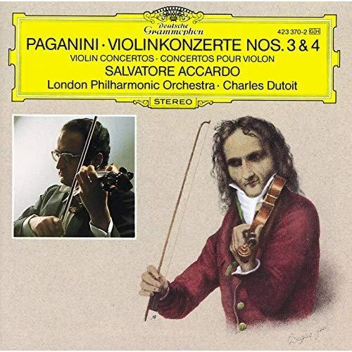 Salvatore Accardo & London Philharmonic Orchestra & Charles Dutoit - Paganini: Violinkonzerte No. 3 & 4 (1975) CD Rip