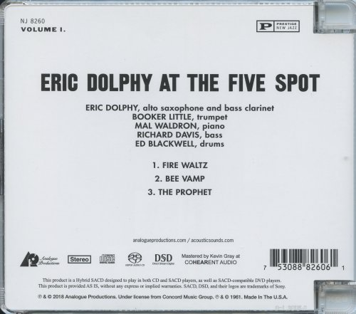 Eric Dolphy - Eric Dolphy at the Five Spot (1961) [2018 SACD]