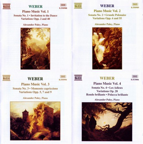 Alexander Paley - Weber: Complete Piano Music Vol.1-4 (2009)