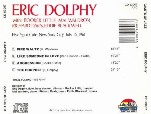Eric Dolphy - Five Spot Cafe New York City July 16, 1961 (1990)